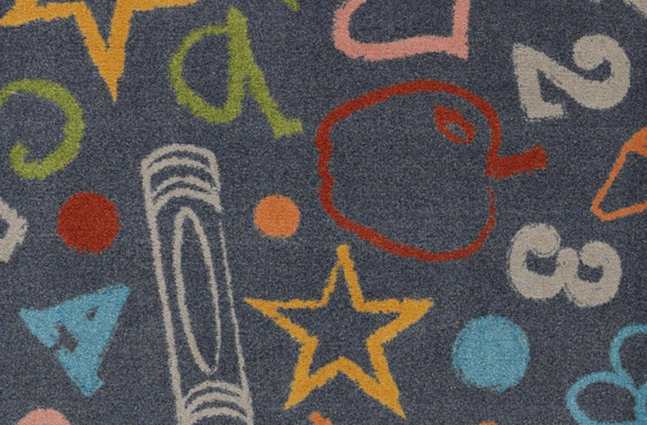 Joy Carpets Kid's Art Carpet - Chalk Dust