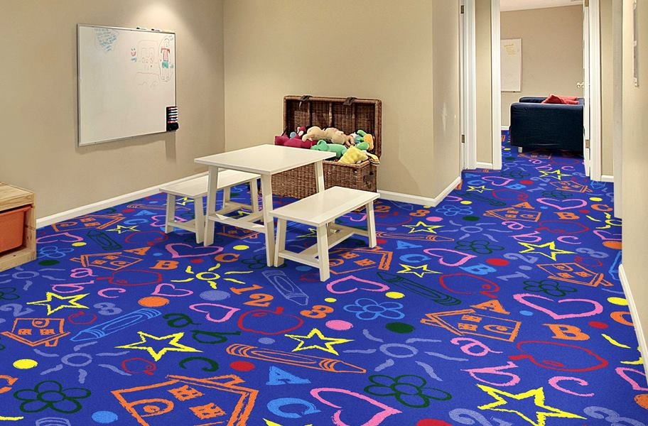 Joy Carpets Kid's Art Carpet - Rainbow