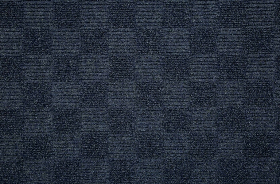 Checkered Carpet Tile - Seconds - Ocean Blue
