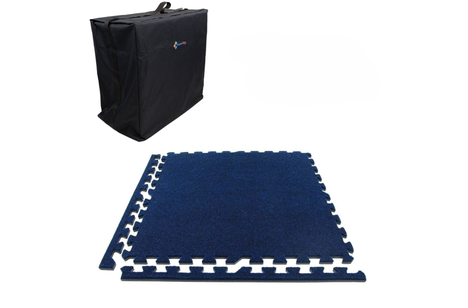 Premium Soft Carpet Trade Show Kits - Soft Case w/ 25 Tiles