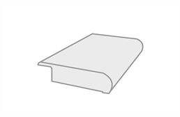 """Brushed Suede 3/8"""" x 3"""" x 78"""" Overlap Stair Nose"""