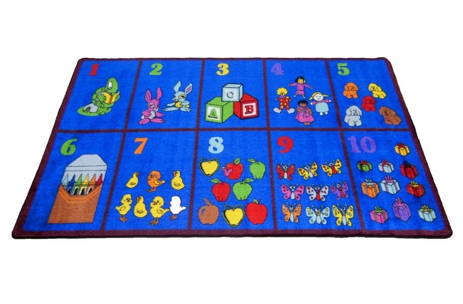 Count With Me Kids Rug