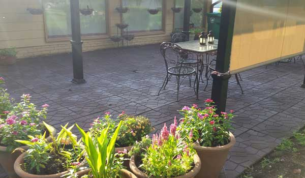 "Customer review image of  in Ou Home""s Concrete Patio"