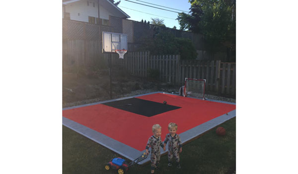 Customer review image of  in Outdoor Basketball Court