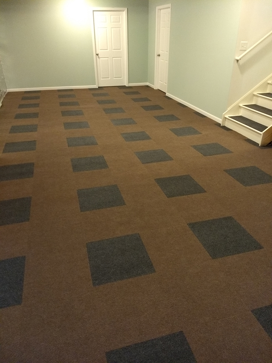 Customer review image of  in basement concrete floor