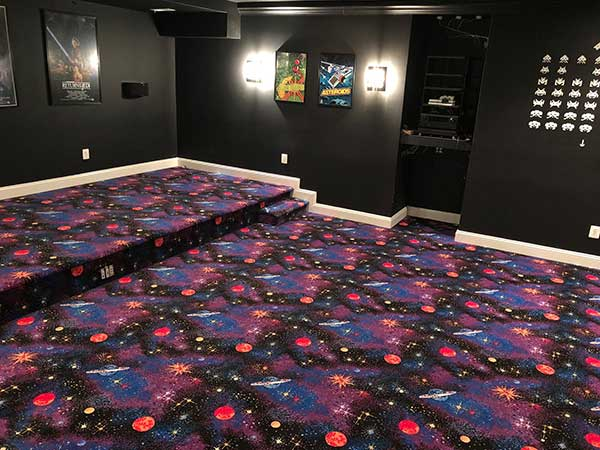 Customer review image of  in Basement Theater Room