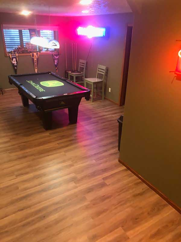 Customer review image of  in Basement game room