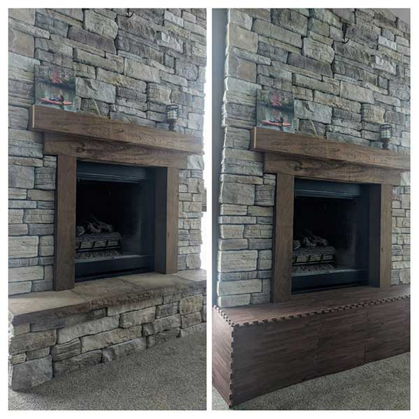 Customer review image of  in Fireplace hearth
