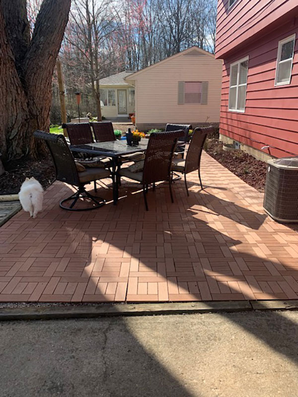 Customer review image of  in outdoor flooring