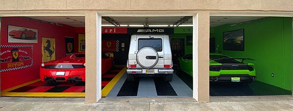 Fancy Car Themed Garage: Nitro Tiles