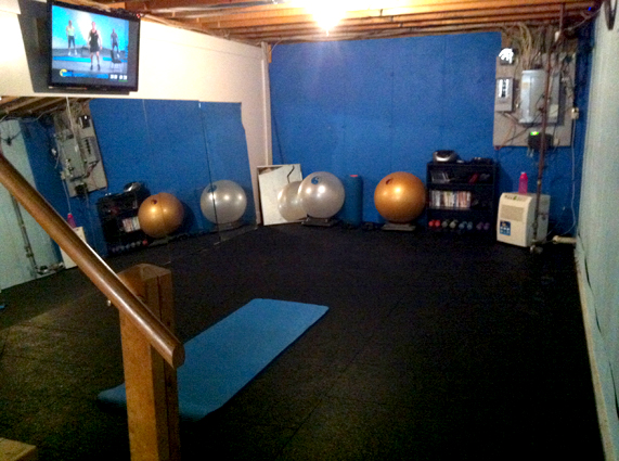 Customer review image of  in home gym in our basement