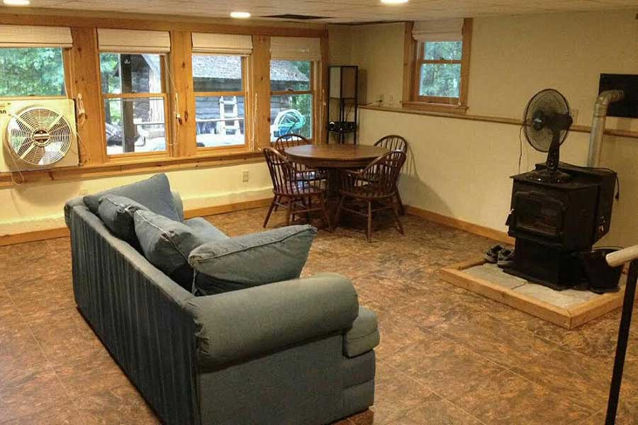 Customer review image of  in lower level living at lake home