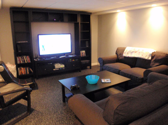 Customer review image of  in Basement Media Room