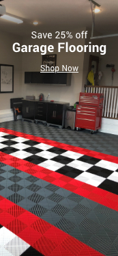 save 25% off garage flooring