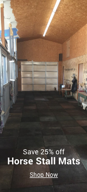 save 25% off horse stall mats
