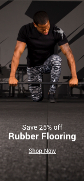 save 25% off rubber flooring